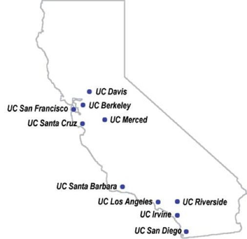 Universities And Colleges In California Map.Visit Universities Community College Students University Culture